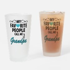 My Favorite People Call Me Grandpa Drinking Glass