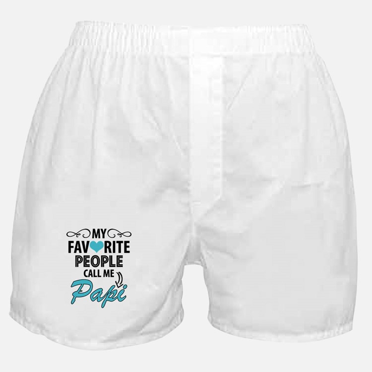 My Favorite People Call Me Papi Boxer Shorts