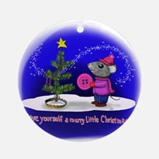 Have Yourself a Merry Little Christ Round Ornament