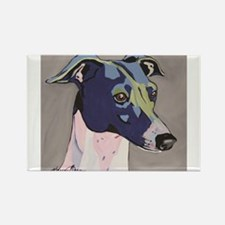 Cute Italian greyhound Rectangle Magnet (10 pack)