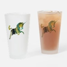 Cute Unicorns abstract Drinking Glass