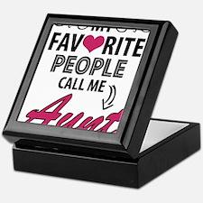 My Favorite People Call Me Aunt Keepsake Box