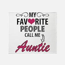 My Favorite People Call Me Auntie Throw Blanket