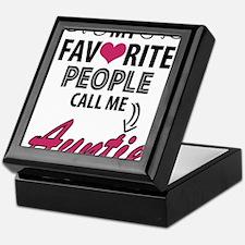 My Favorite People Call Me Auntie Keepsake Box