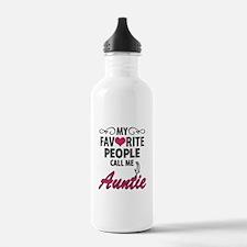 My Favorite People Call Me Auntie Water Bottle