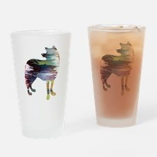 Funny Acrylic painting Drinking Glass