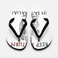 Keep Saturn in Saturnalia Flip Flops
