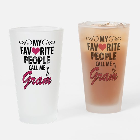 My Favorite People Call Me Gram Drinking Glass