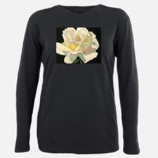 Cute Yellow rose Plus Size Long Sleeve Tee