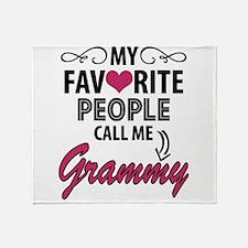 My Favorite People Call Me Grammy Throw Blanket
