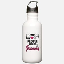 My Favorite People Call Me Grammy Water Bottle