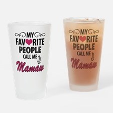 My Favorite People Call Me Mamaw Drinking Glass