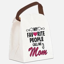 My Favorite People Call Me Mom Canvas Lunch Bag