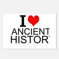 I Love Ancient History Postcards (Package of 8)