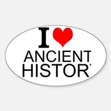 I Love Ancient History Decal