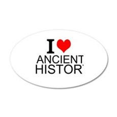 I Love Ancient History Wall Decal