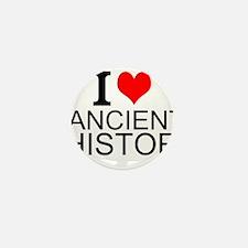 I Love Ancient History Mini Button