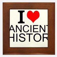 I Love Ancient History Framed Tile