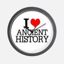 I Love Ancient History Wall Clock
