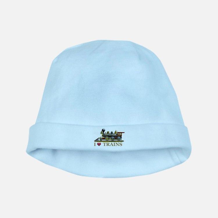 I Love Trains baby hat