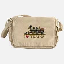 I Love Trains Messenger Bag