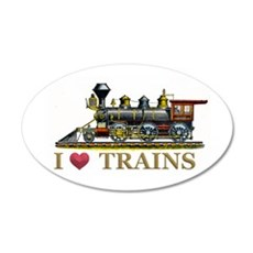 I Love Trains Wall Decal