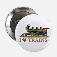 """I Love Trains 2.25"""" Button (100 pack)"""