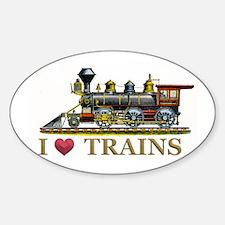 I Love Trains Decal
