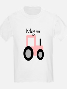 Megan - Pink Tractor T-Shirt