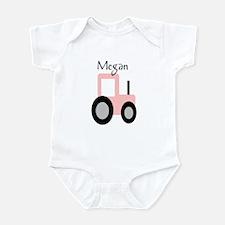Megan - Pink Tractor Infant Bodysuit