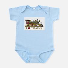 I Love Trains Infant Bodysuit