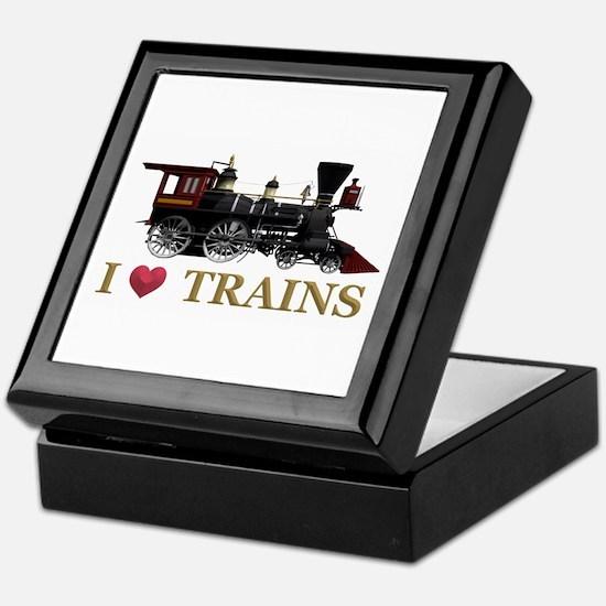 I Love Trains Keepsake Box