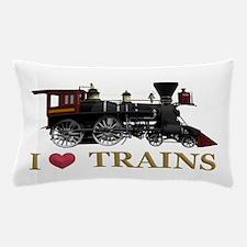 I Love Trains Pillow Case