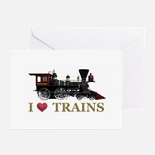 I Love Trains Greeting Cards (Pk of 10)