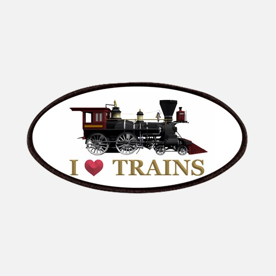 I Love Trains Patch