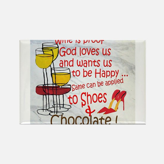 Funny Wine humor Rectangle Magnet