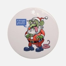 Rat Claus Round Ornament