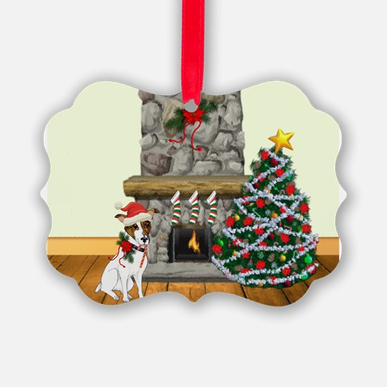 A Jack Russell Christmas Ornament