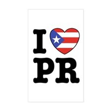 I Love PR Rectangle Decal