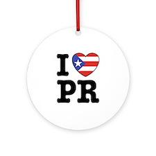 I Love PR Ornament (Round)