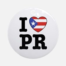 I Love PR Ornament (Round)