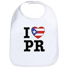 I Love PR Bib