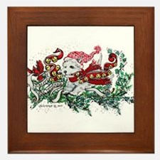 Westie White Christmas Framed Tile