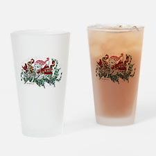 Westie White Christmas Drinking Glass