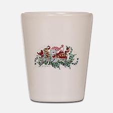 Westie White Christmas Shot Glass