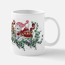 Westie White Christmas Mugs