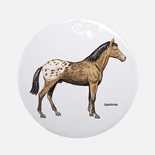 Appaloosa Horse Ornament (Round)
