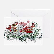 Westie White Christmas Greeting Cards