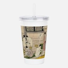 asian geisha bathhouse Acrylic Double-wall Tumbler