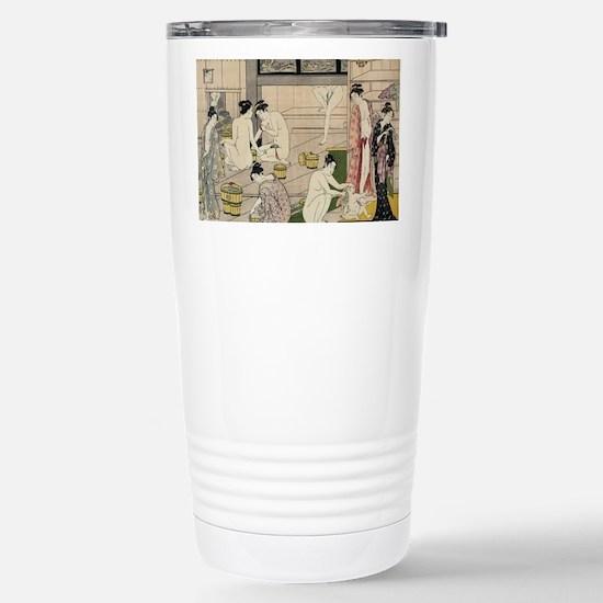 asian geisha bathhouse Stainless Steel Travel Mug